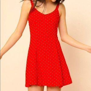 Garage Red Polka Dot Mini Dress
